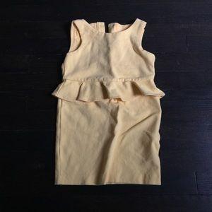Janie & Jack Yellow Peplum Dress sz3